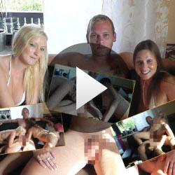 Flotter Dreier mit Bella im Wohnzimmer auf Video aufgenommen